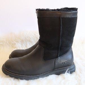 Women's UGG Brooks Short Black Moto Boots 8